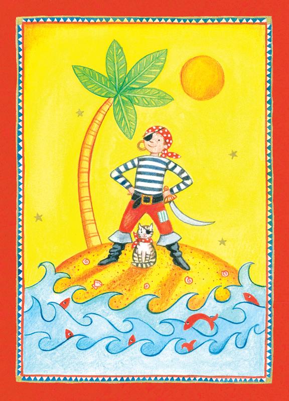 Pirateninsel Postkarte