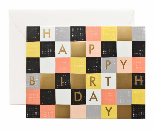 Checkered Birthday - 1