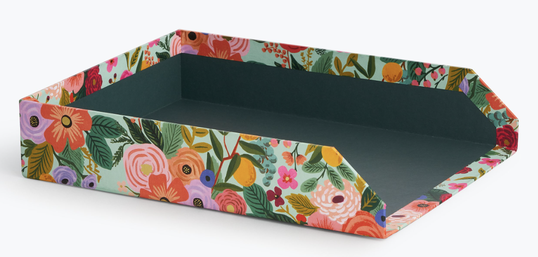 Garden Party Letter Tray