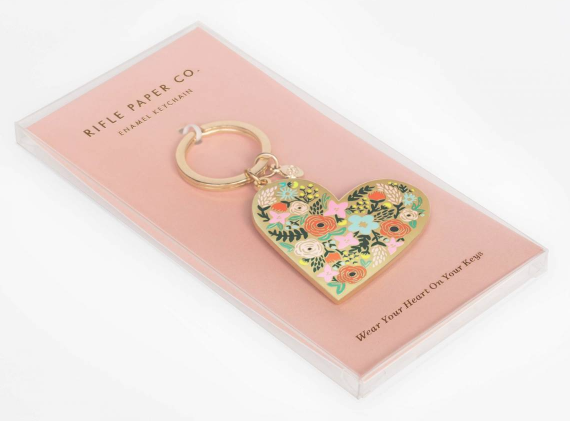 Floral Heart Keychain - 2