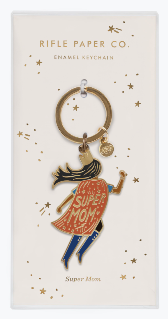 Soaring Super Mom Keychain