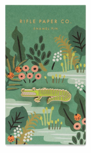 Alligator Emaille Pin