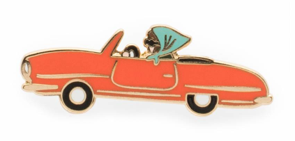 Car Emaille Pin