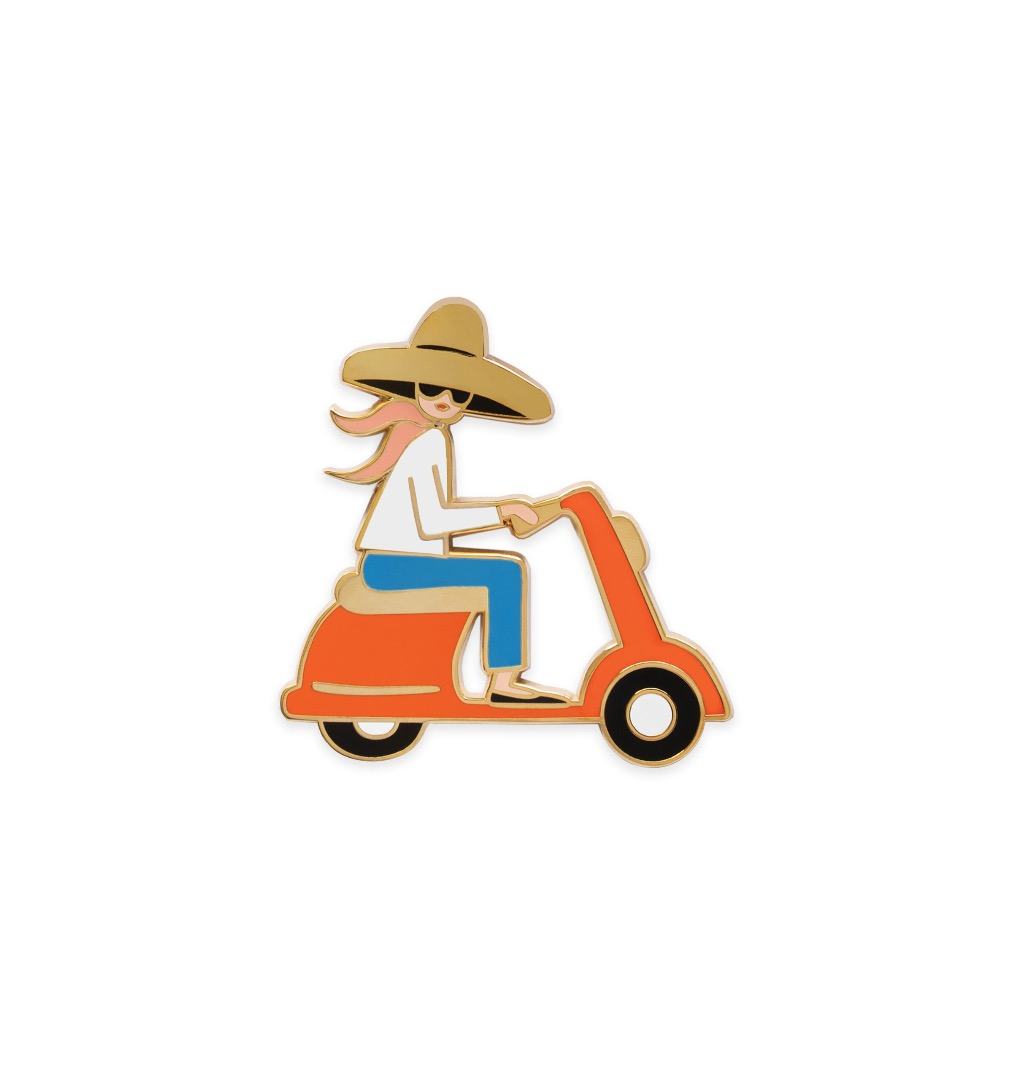 Scooter Girl Pin 2
