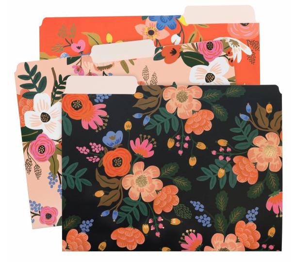 Liveley Floral File Folders