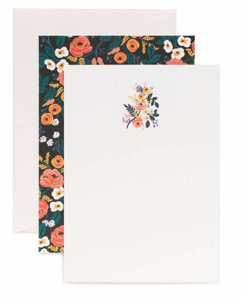Violet Floral Briefpapier