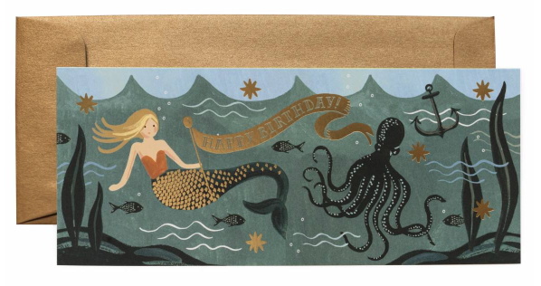 Under the Sea Birthday Long Card - 1