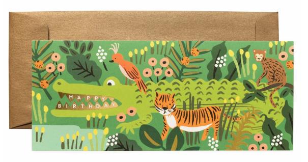 Alligator Birthday Long Card