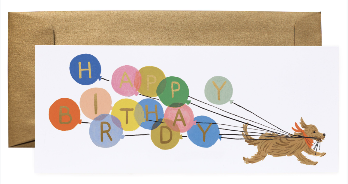 Balloon Birthday Long Card