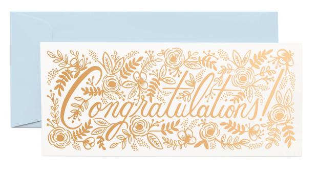 Champagne Floral Congrats