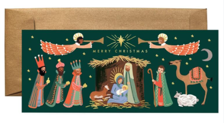 Holiday Nativity Long Card - 1