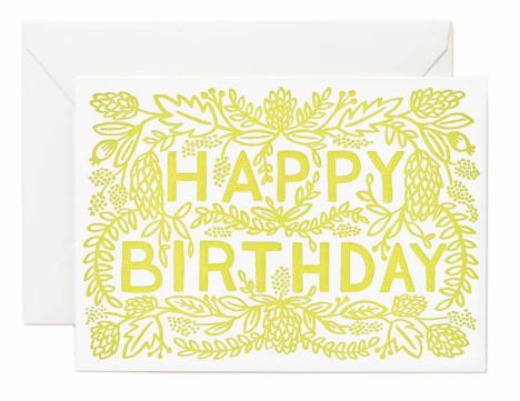 Letterpress Birthday - 1