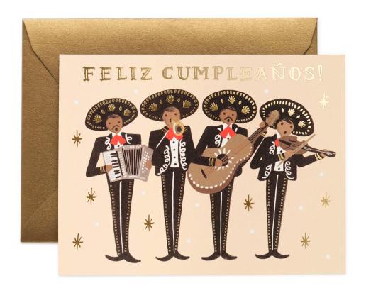 Marriachi Birthday Card