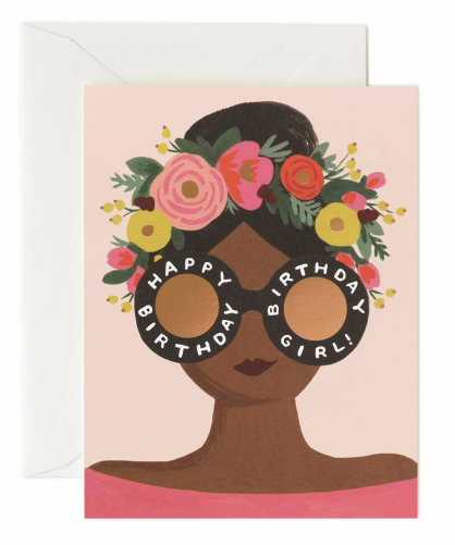 Flower Crown Girl Card