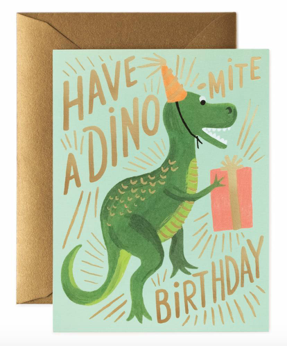 Dino Mite Birthday Card Rifle Paper Co Rifle Paper Co