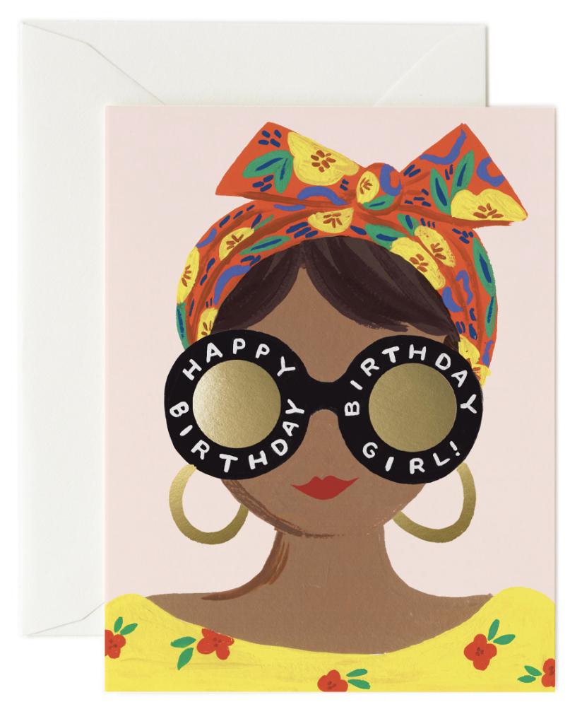 Scarf Birthday Girl Card