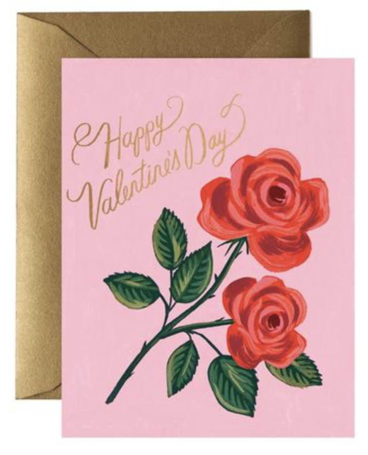 Roses Are Red Valentine Card