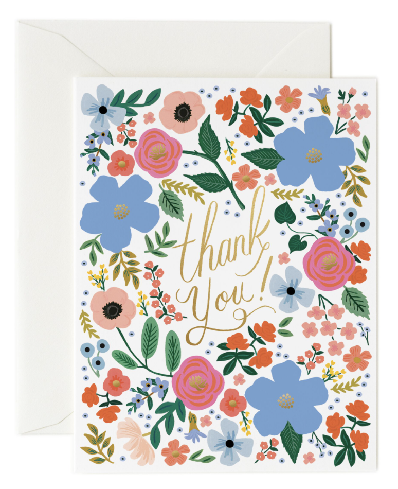 Wild Rose Thank You Card - 1