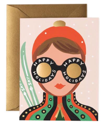 Ski Girl Card - 1