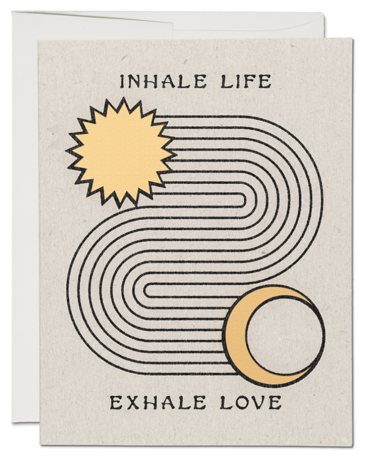 Inhale Exhale Card