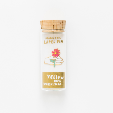 Hand & Flower Lapel Pin