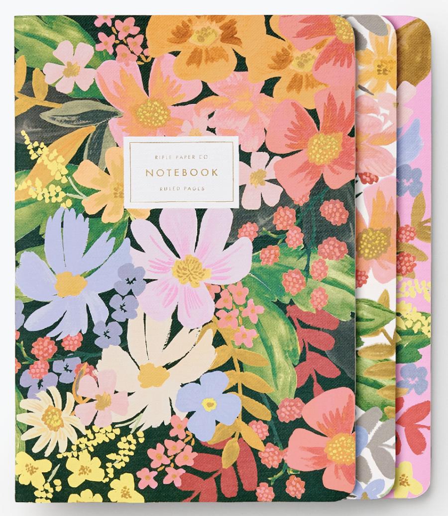Marguerite Stitched Notebook Set