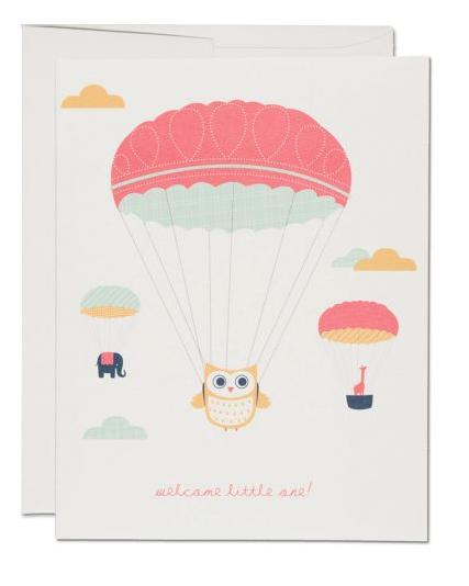 Owl Prachute Card