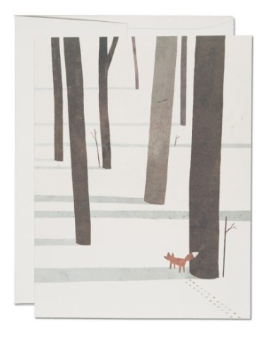 Fox in the Snow Card