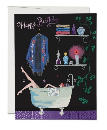 Bathtub Bubbles Card