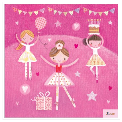 Ballerina Party Card