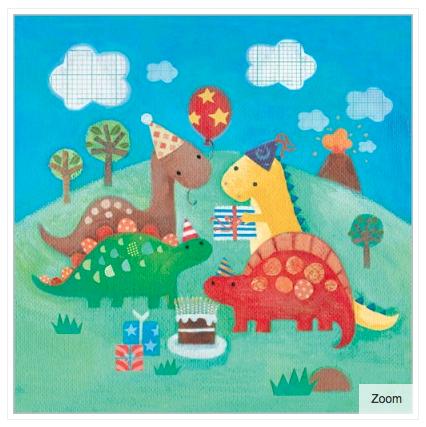 Dinosaur s Party Card