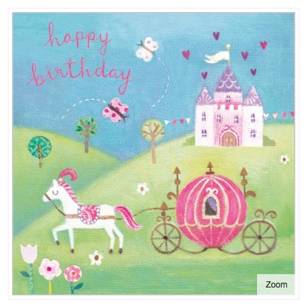 Cinderella Carriage Card - 1