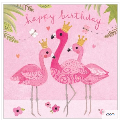 Flamingo Fun Card - 1