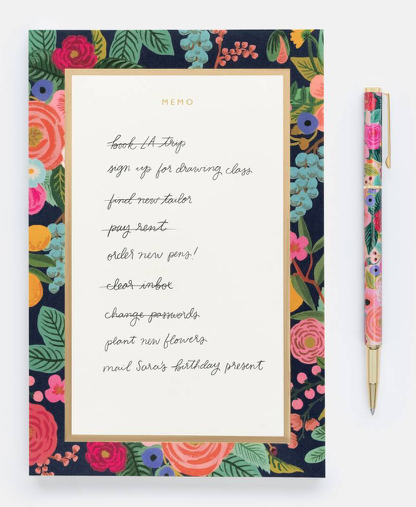Garden Party Memo Notepad - 2