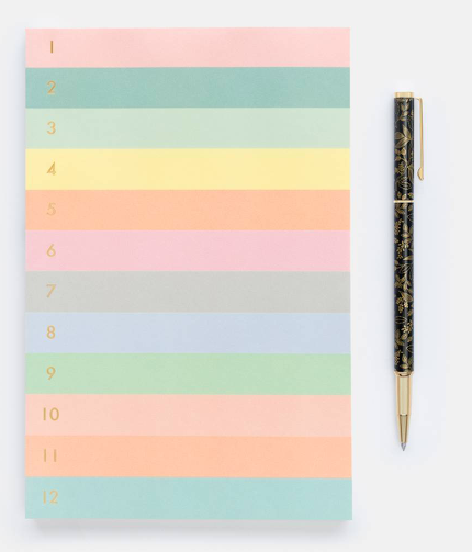 Numbered Memo Notepad