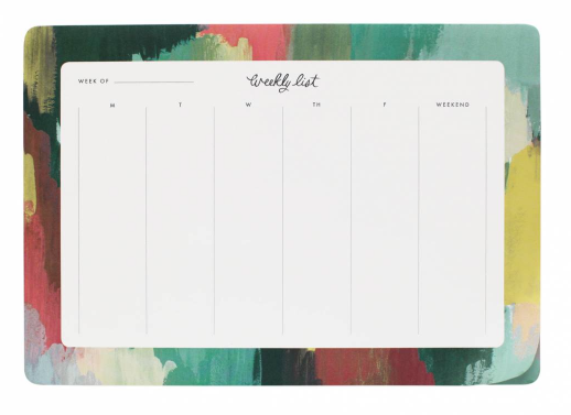 Paint Strokes Weekly Desk Pad 2
