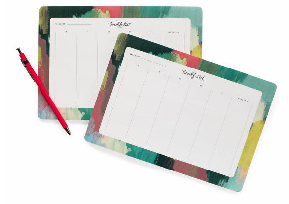 Paint Strokes Weekly Desk Pad