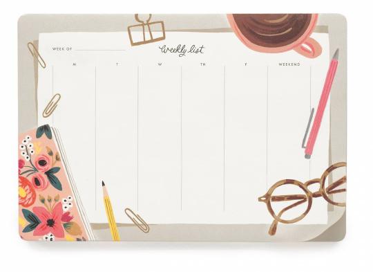 Desktop Weekly Desk Pad