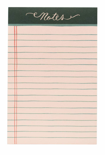 Rose Lined Notepad - 1