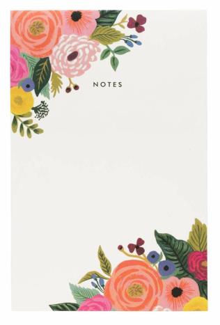 Juliet Rose Notepad - 1