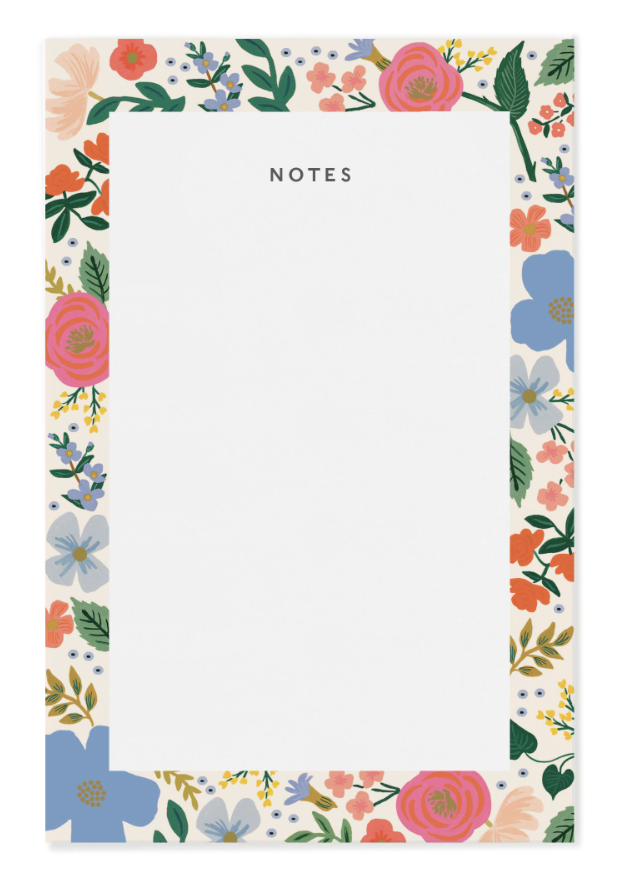 Wild Rose Notepad - 1