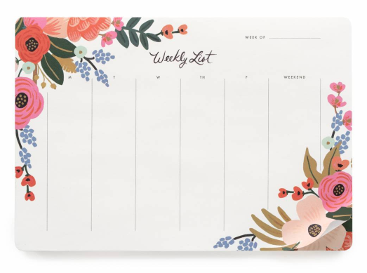 Lively Floral Weekly Deskpad