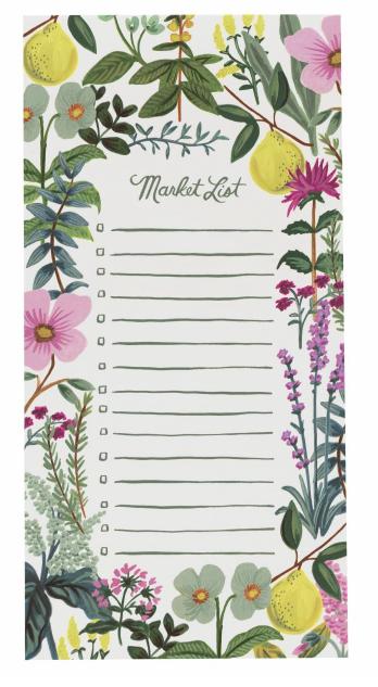 Herb Garden Market Pad - Magnet Notizblock