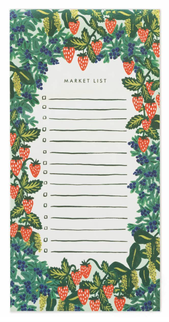 Strawberry Fields Market Pad - Magnet Notizblock