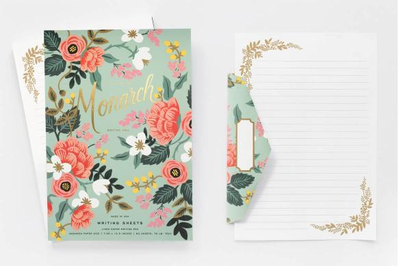 Mint Floral Birch Briefblock - 6