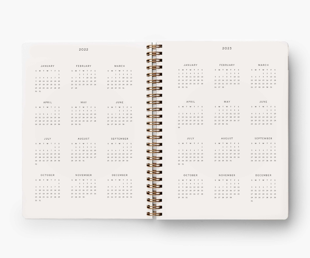 2022 Dovecote Softcover Spiral Planner 4