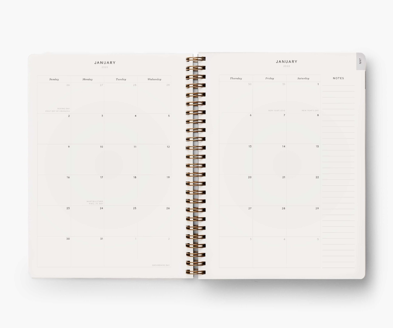 2022 Dovecote Softcover Spiral Planner 5