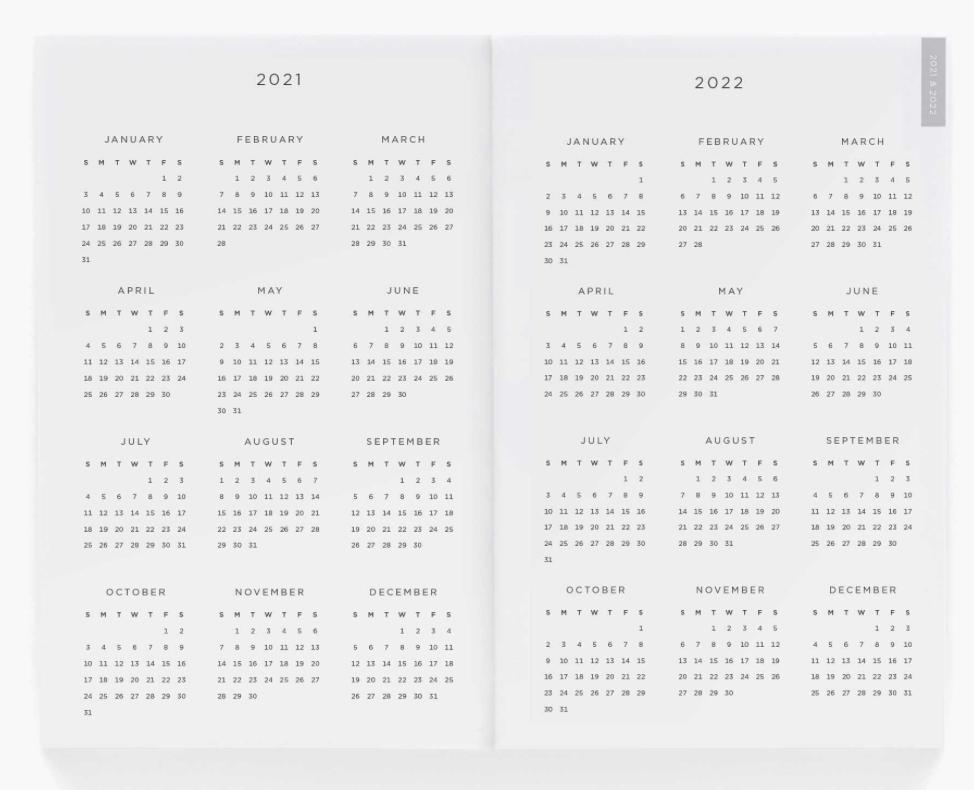 2021 Type A Pocket Agenda 3
