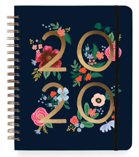2020 Wild Rose Large Spiral Planner