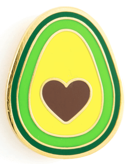 Avocado Heart Pin
